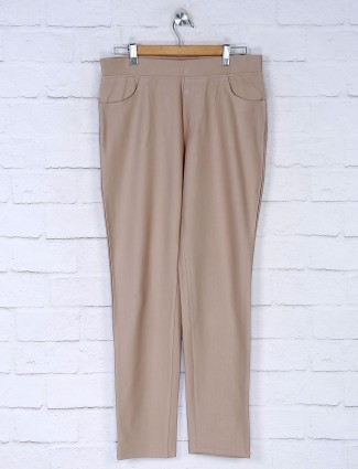 Boom cotton slim fit jeggings in cream