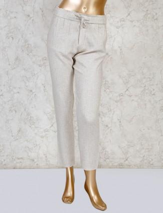 Boom cream linen casual payjama