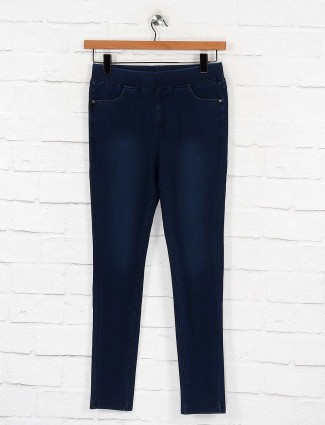 Boom denim fabric navy colored jeggings