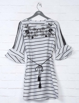 Boom grey stripe cotton top