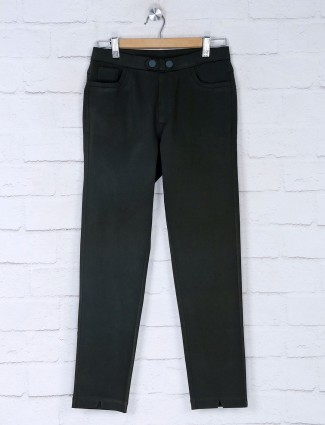 Boom olive green jeggings for women