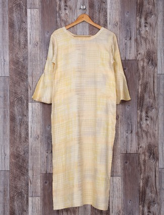 Casual wear light yellow kurti