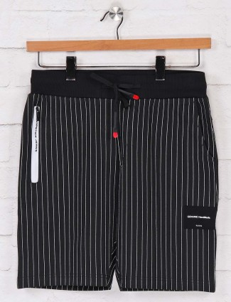 Chopstick black stripe cotton shorts