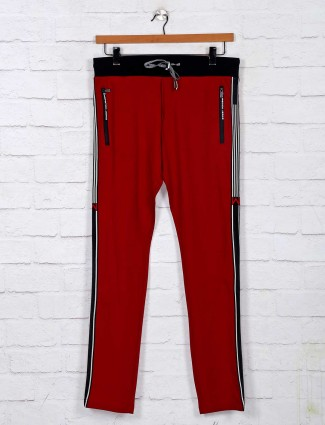 Chopstick maroon comfortable track pant