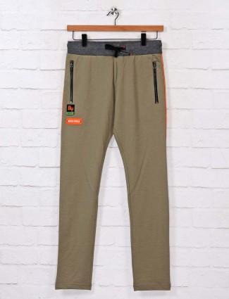 Chopstick olive cotton track pant