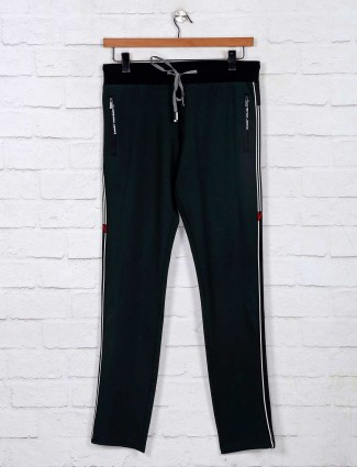 Chopstick presented green hue track pant