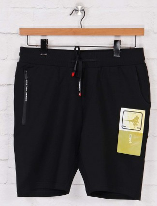 Chopstick solid black shorts