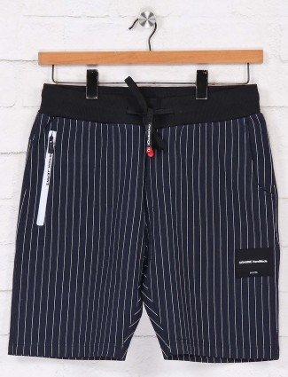 Chopstick stripe navy shorts