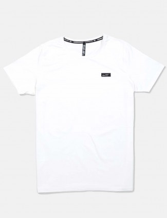 Chopstick white solid casual t-shirt