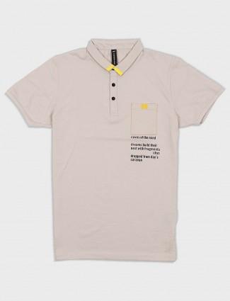 Cookyss beige color patch pocket t-shirt