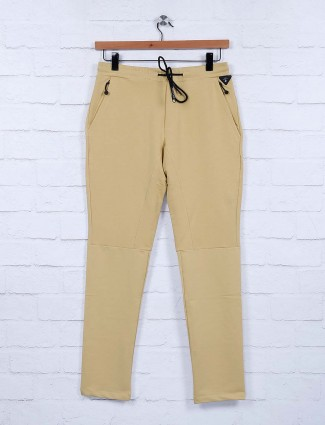 Cookyss beige hue night wear solid track pant