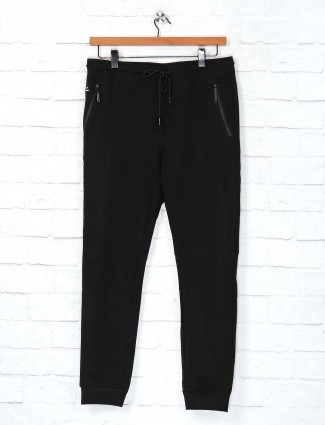 Cookyss black cotton track pant