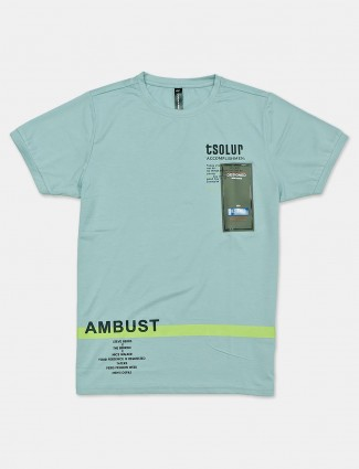 Cookyss casual wear mint printed t-shirt