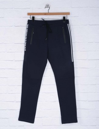 Cookyss navy simple comfort track pant