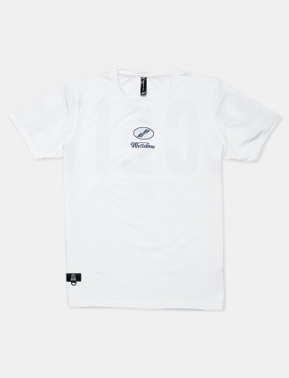Cookyss printed white casual cotton t-shirt