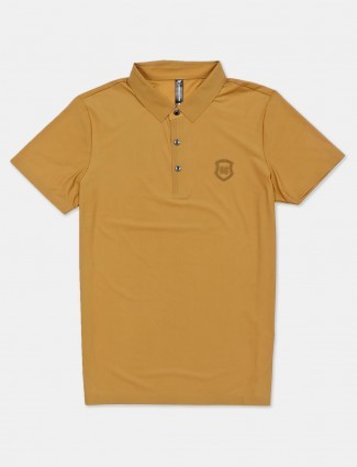 Cookyss solid brown polo mens t-shirt in cotton