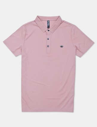 Cookyss solid pink polo t-shirt