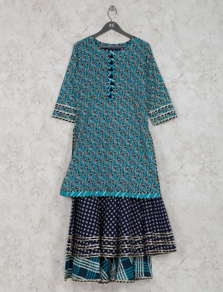 Cotton fabric printed pattern casual wear kurti
