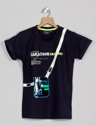 DanaBoi printed black cotton t-shirt