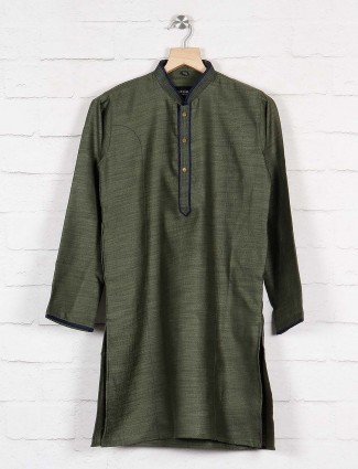 Dark green party function kurta suit