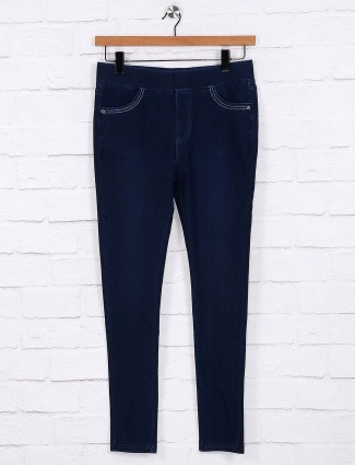 Dark navy skinny fit jeggings
