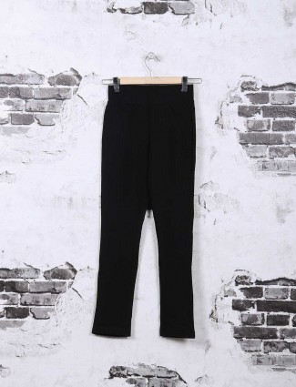 Deal black cotton casual jeggings