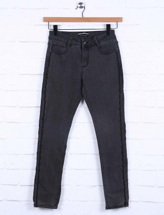 Deal black denim solid casual wear jeans