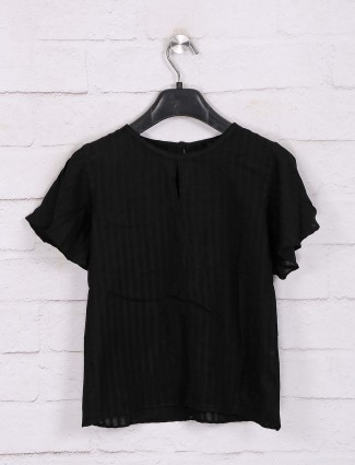 Deal black solid cotton top