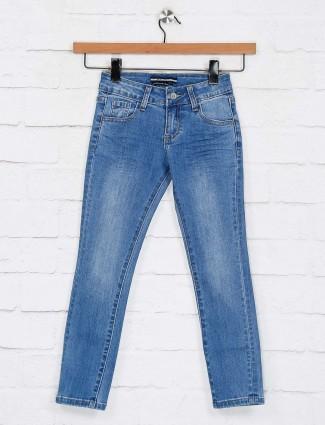 Deal blue solid denim skinny fit jeans