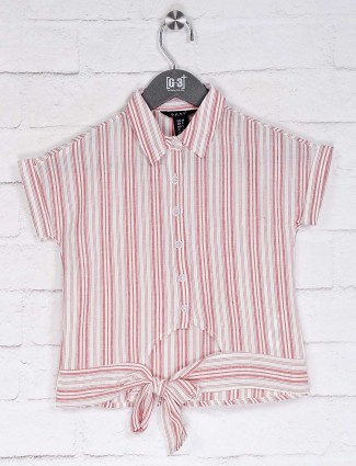 Deal casual wear pink stripe top