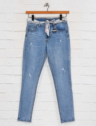 Deal casual wear skinny blue jeans