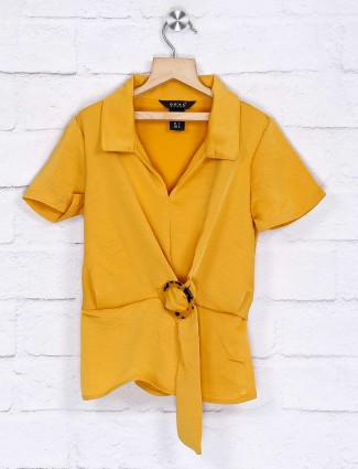 Deal mustard yellow cotton top