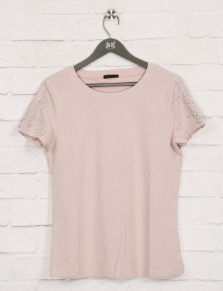 Deal peach solid cotton top