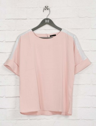 Deal peach solid top in cotton