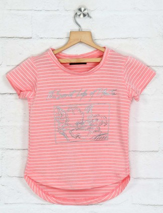 Deal peach stripe design top