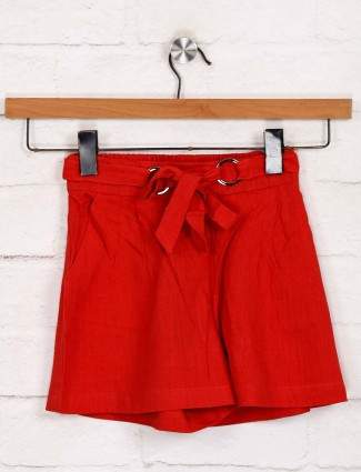 Deal presented cotton solid shorts