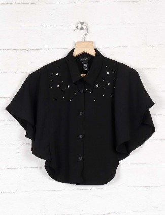 Deal presents black cotton casual top