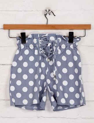 Deal printed grey cotton shorts
