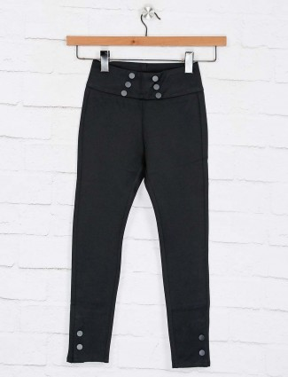 Deal solid black cotton jeggings