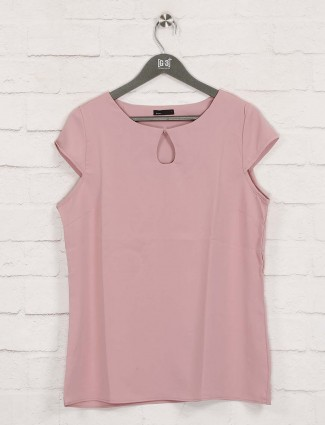 Deal solid pink casual wear top
