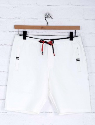 Deepee white hue mens cotton shorts