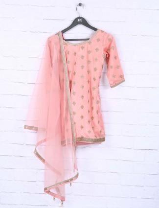 Designer wedding wear pink sharara suit
