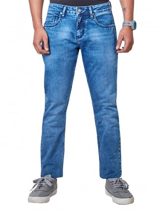 Dragon Hill blue casual wear solid jeans