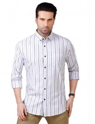 Dragon Hill blue stripe cotton shirt