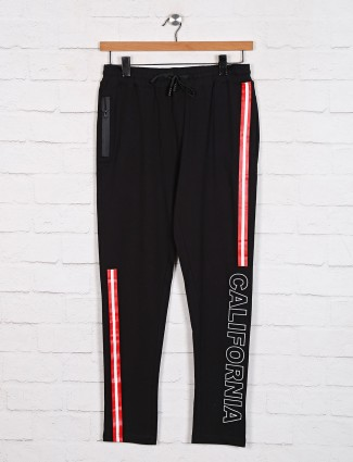 Dxi black color printed track pant