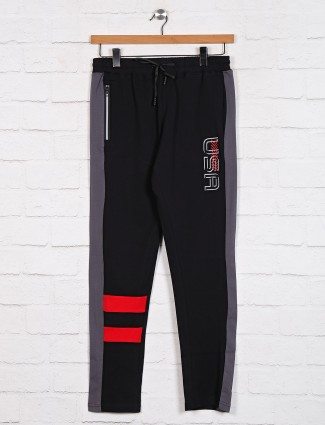 Dxi black night solid track pant