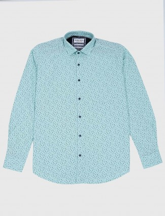 Easies printed sea green colored shirt