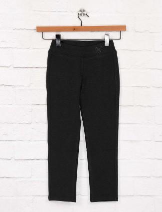 EBONY dark grey hue cotton solid jeggings