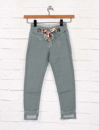 EBONY green denim casual wear jeans