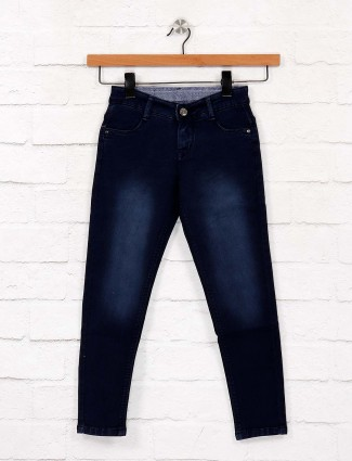 EBONY presented navy hued jeans